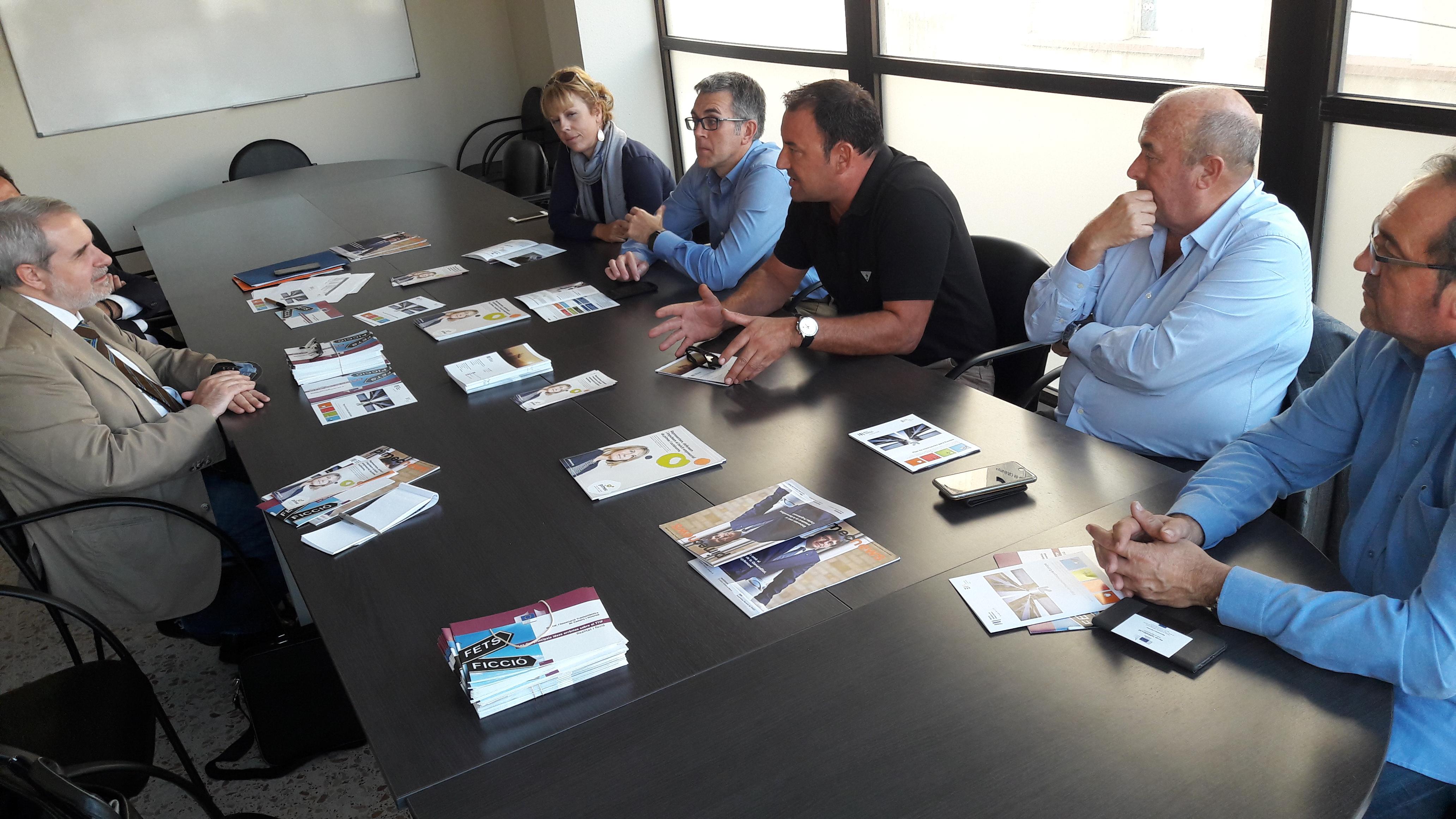 Els empresaris ebrencs reunits amb el representant de la Comissió Europea a Barcelona