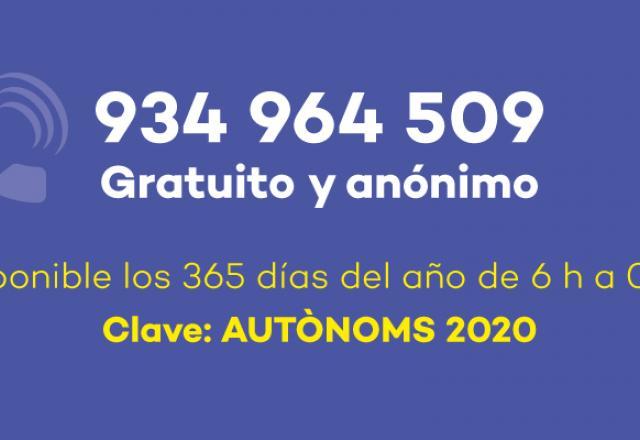 telefono-autonomos-catalunya-coronavirus-covid19